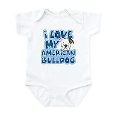 I Love my American Bulldog Onesie