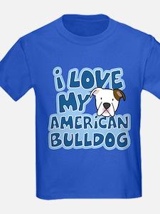 I Love my American Bulldog T
