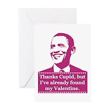 Obama Valentine's Day Greeting Card
