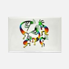 Five Kokopelli Jam Session Rectangle Magnet