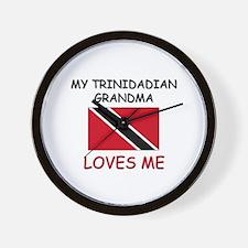 My Trinidadian Grandma Loves Me Wall Clock