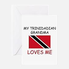 My Trinidadian Grandma Loves Me Greeting Card