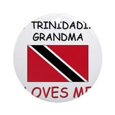 My Trinidadian Grandma Loves Me Ornament (Round)
