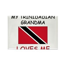 My Trinidadian Grandma Loves Me Rectangle Magnet