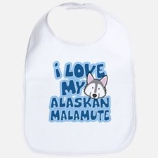 I Love my Alaskan Malamute Bib