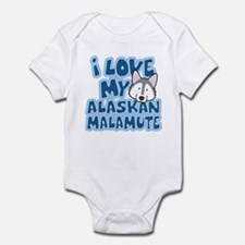 I Love my Alaskan Malamute Infant Bodysuit