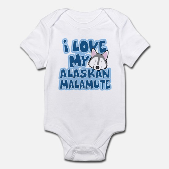 I Love my Alaskan Malamute Infant Bodysuit