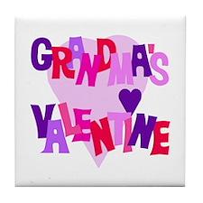 Grandma's Valentine Tile Coaster