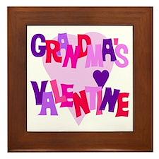 Grandma's Valentine Framed Tile