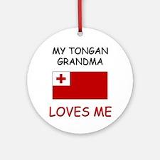 My Tongan Grandma Loves Me Ornament (Round)