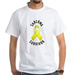 Sarcoma Survivor White T-Shirt