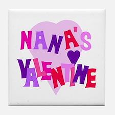 Nana's Valentine Tile Coaster