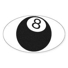 Riyah-Li Designs 8 Ball Oval Decal