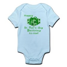 St Pats Birthday with Gift Infant Bodysuit