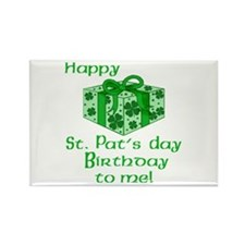 St Pats Birthday with Gift Rectangle Magnet (100 p