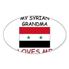 My Syrian Grandma Loves Me Oval Decal