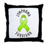 Lymphoma Survivor Throw Pillow