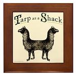 Tarp as a Shack Spoonerism Framed Tile