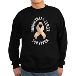 Endometrial Cancer Survivor Sweatshirt (dark)