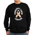 Endometrial Cancer Survivor Sweatshirt (dark)