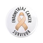 """Endometrial Cancer Survivor 3.5"""" Button (100 pack)"""