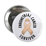 "Endometrial Cancer Survivor 2.25"" Button"