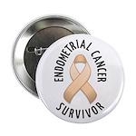 """Endometrial Cancer Survivor 2.25"""" Button (10 pack)"""