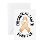 Endometrial Cancer Survivor Greeting Cards (Pk of