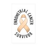 Endometrial Cancer Survivor Rectangle Sticker 50