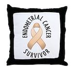 Endometrial Cancer Survivor Throw Pillow