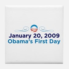 1-20-09: Obama's First Day Tile Coaster