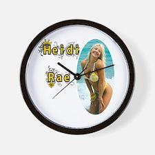 Yellow Bikini Wall Clock