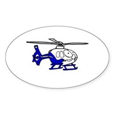 EMS Helicopter3 Oval Decal