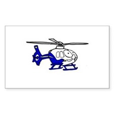 EMS Helicopter3 Rectangle Decal