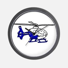 EMS Helicopter3 Wall Clock