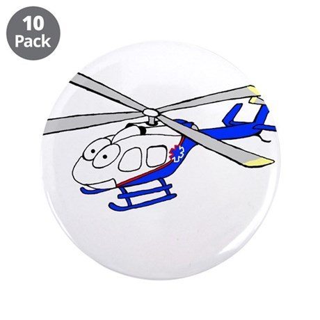 """EMS Helicopter4 3.5"""" Button (10 pack)"""
