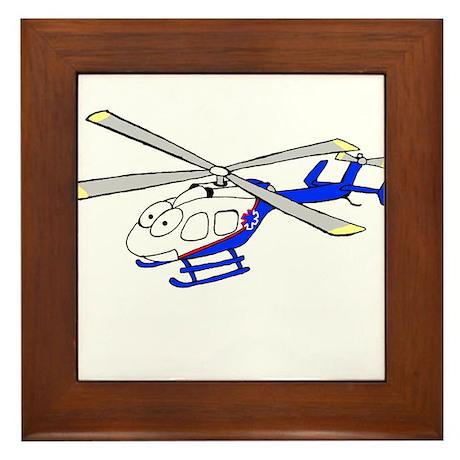 EMS Helicopter4 Framed Tile