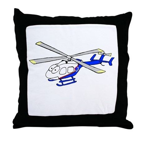 EMS Helicopter4 Throw Pillow