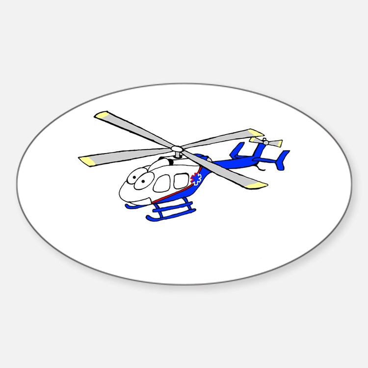 EMS Helicopter4 Oval Decal