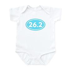 26.2 Marathon Runner Oval Infant Bodysuit