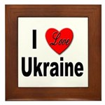 I Love Ukraine Framed Tile