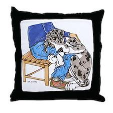 NMtMrl Leghug Throw Pillow