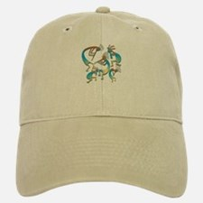 Five Cool Blue Kokopelli Baseball Baseball Cap
