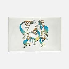 Five Cool Blue Kokopelli Rectangle Magnet
