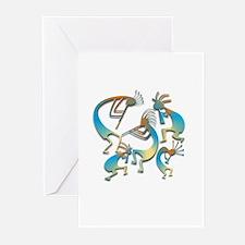 Five Cool Blue Kokopelli Greeting Cards (Pk of 20)