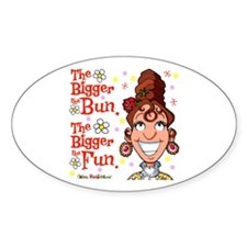 The Bigger the Bun Oval Sticker (10 pk)