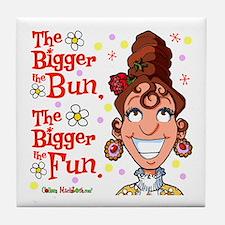 The Bigger the Bun Tile Coaster