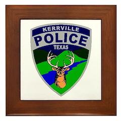 Kerrville Police Framed Tile
