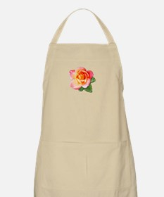Blushing Yellow Rose BBQ Apron