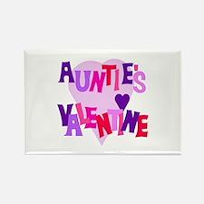 Auntie's Valentine Rectangle Magnet